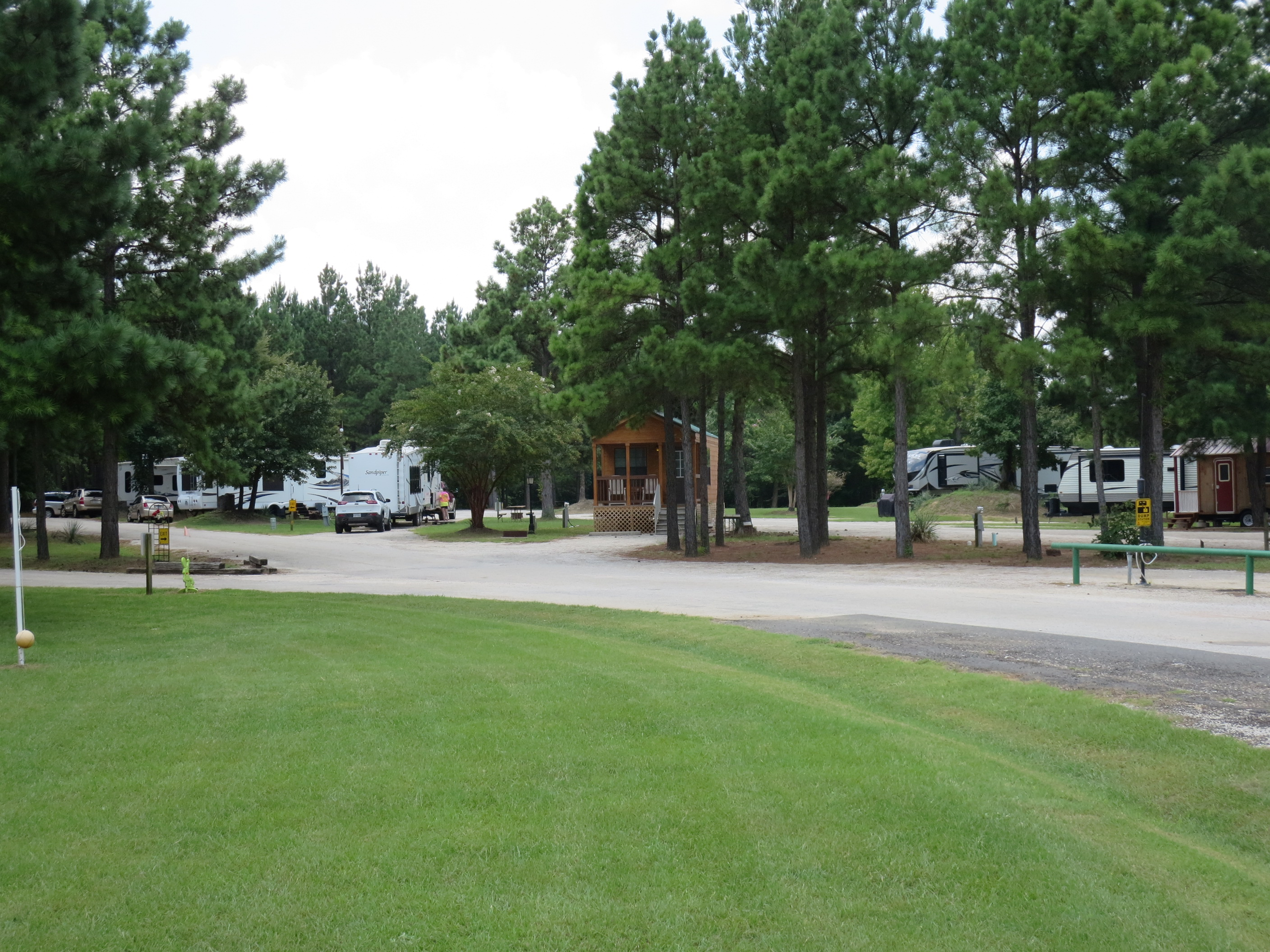 RV Area and deluxe cabin
